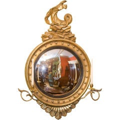 Classical Gilt wood convex mirror