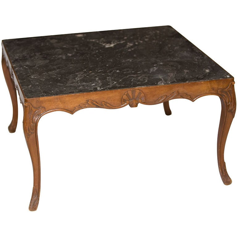 French Louis Xv Style Marble Top Coffee Table At 1stdibs
