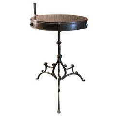 Rare medieval Iron table with porphyry top