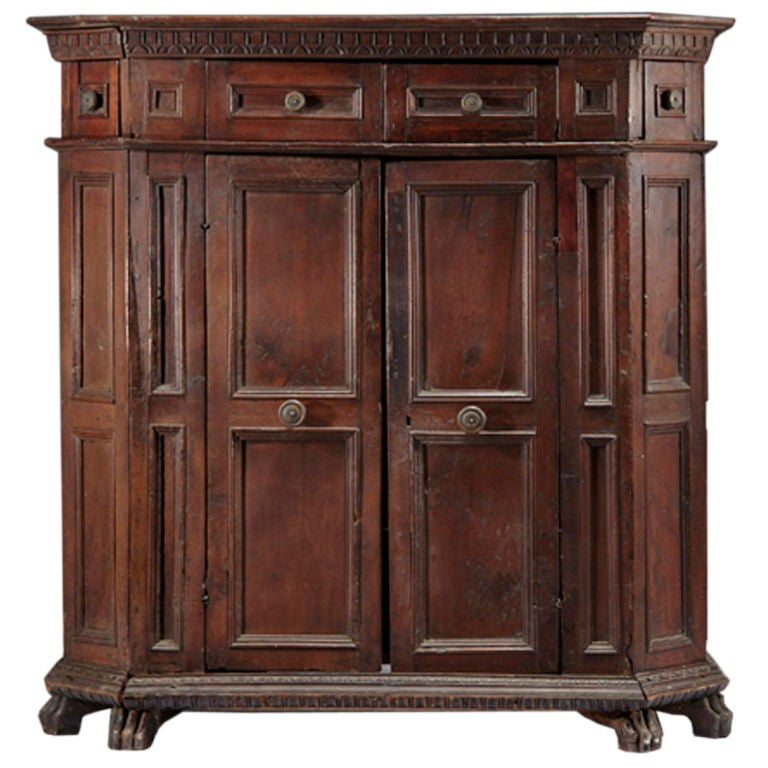 italian baroque armoire cabinet for sale at 1stdibs. Black Bedroom Furniture Sets. Home Design Ideas