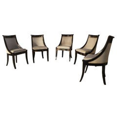 Set of Five Regency Klismo Chairs