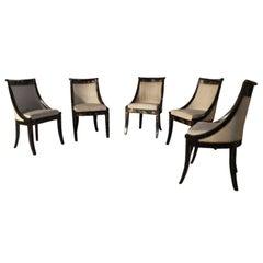 Set of Five Regency Klismo Chairs