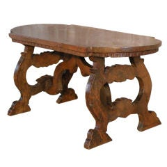 Late 17th Century Petite Italian Baroque Low Walnut Table