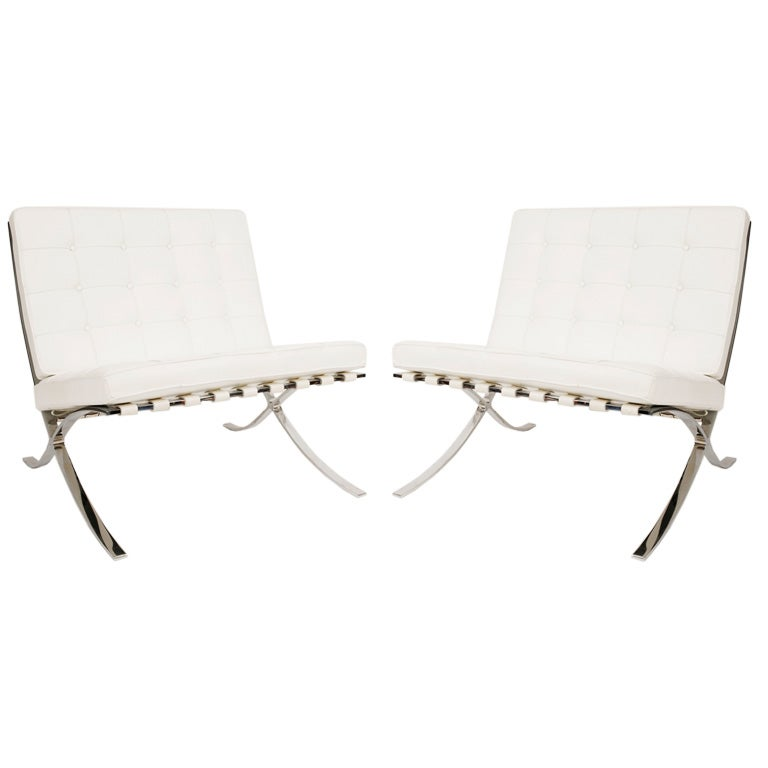 knoll barcelona chairs at 1stdibs. Black Bedroom Furniture Sets. Home Design Ideas