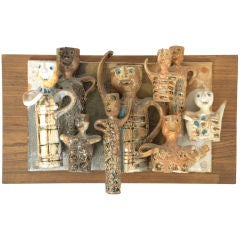 Hal Fromhold Ceramic Wall Sculpture