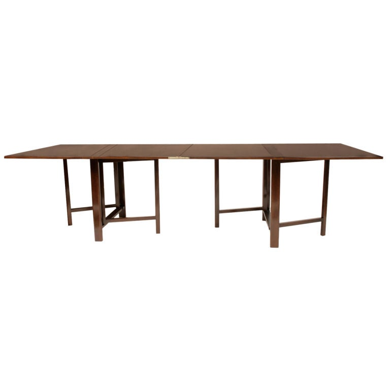 Bruno mathsson folding dining table at 1stdibs - Fold down dining room table ...