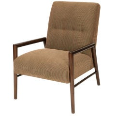 1950s Sculpted Walnut Lounge Chair by Leslie Diamond