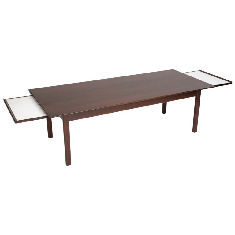 Sixties danish rosewood extension coffee table for sale at for Coffee table extension