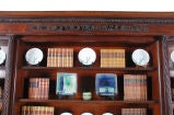Carved Mahogany Bookcase with Twist-Reeded Columns image 2