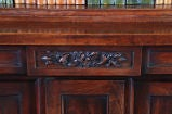 Carved Mahogany Bookcase with Twist-Reeded Columns image 4