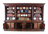 Carved Mahogany Bookcase with Twist-Reeded Columns image 5