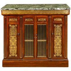 Regency Brass-Inlaid Rosewood Side Cabinet