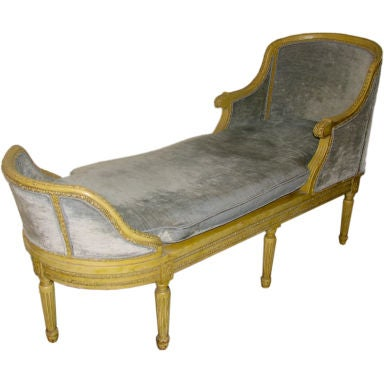 19th century french louis xvi style chaise lounge at 1stdibs for Bernard chaise lounge