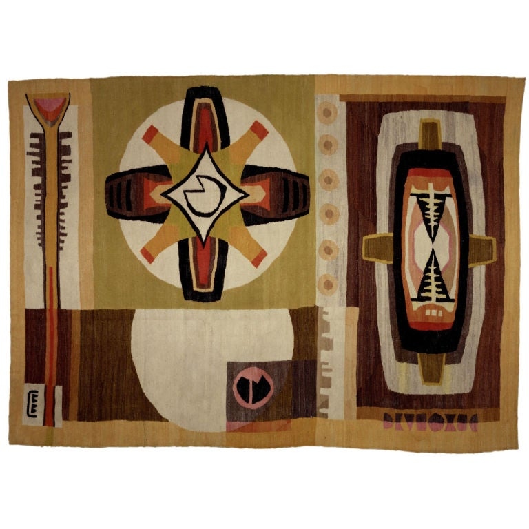 Mid-Century Modern African Tapestry For Sale