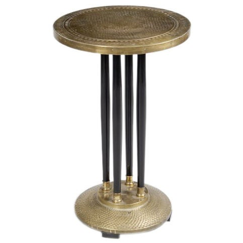 Art Deco Pedestal Side Table At 1stdibs
