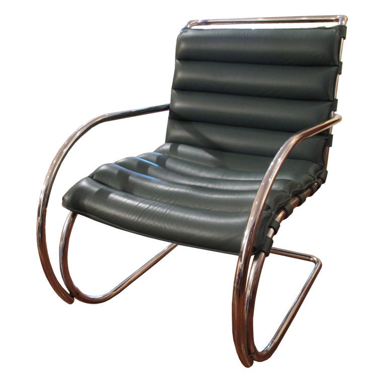 mies van der rohe single leather chair at 1stdibs