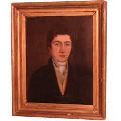 English oil on canvas of a gentleman