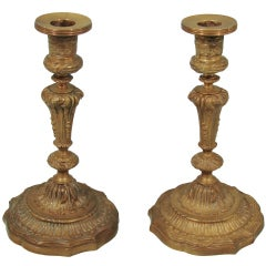 Louis XVI Bronze Candlesticks