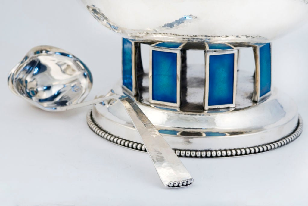 CARTIER ONC (1 of 10)  Punch Bowl Set Sterling Silver w/ 12 Cups Enamelled 1969 10