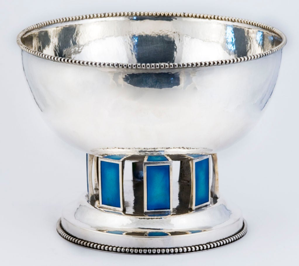 CARTIER ONC (1 of 10)  Punch Bowl Set Sterling Silver w/ 12 Cups Enamelled 1969 7