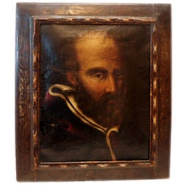18th Century Oil Painting in Original Frame 1