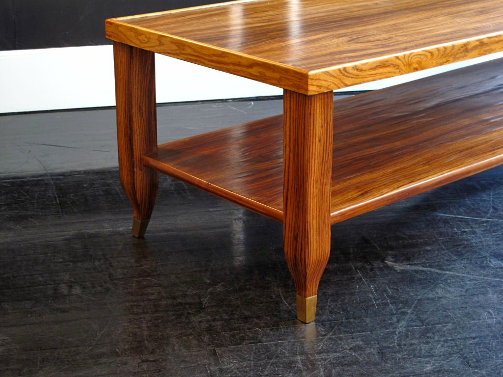 Vintage Zebra Wood Extra Long Coffee Table At 1stdibs