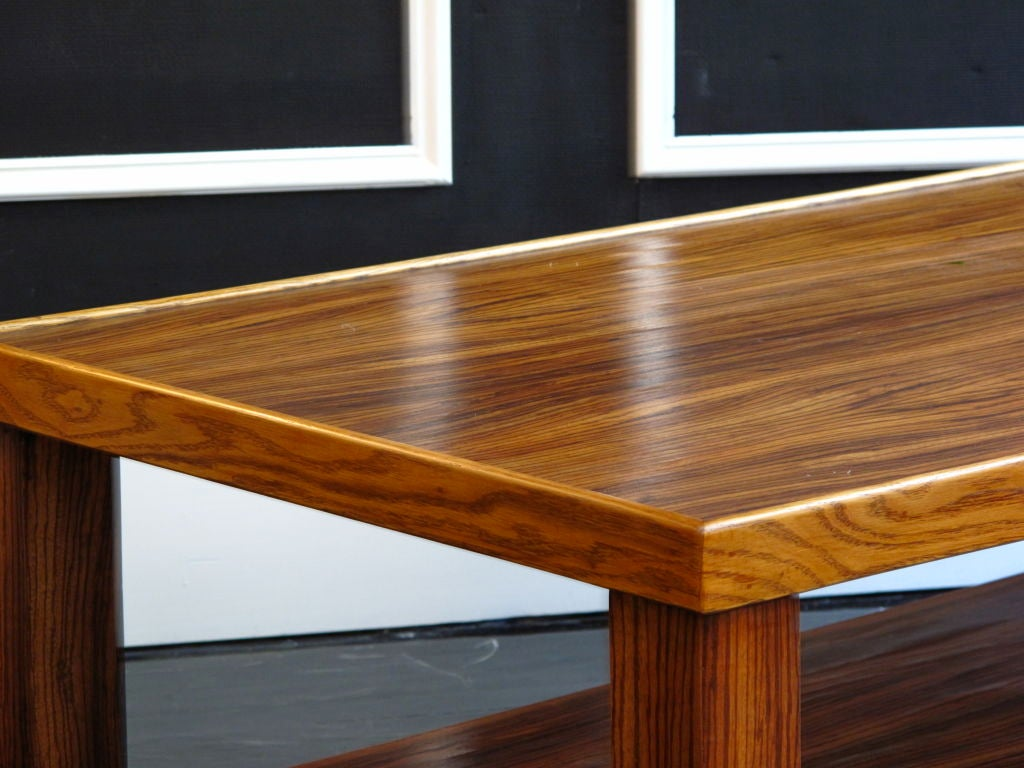 Vintage zebra wood extra long coffee table at stdibs