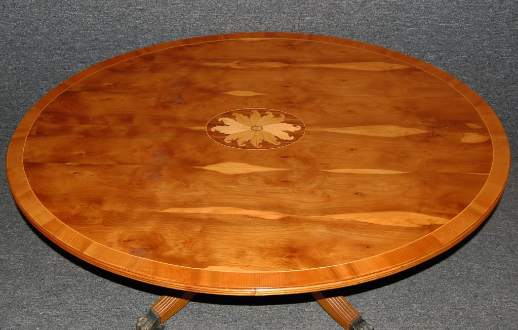 vintage english intarsia inlaid regency style coffee table