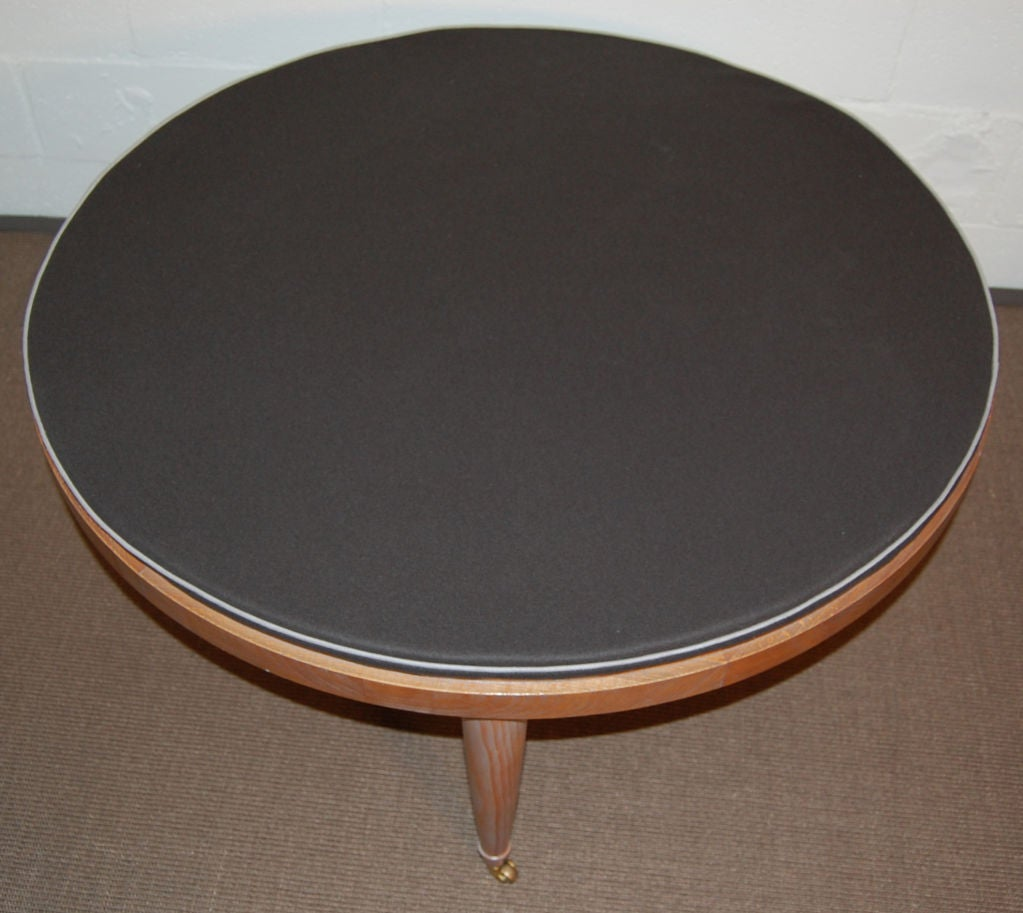 Swedish mid century modern cerused round coffee table at 1stdibs Round coffee table modern