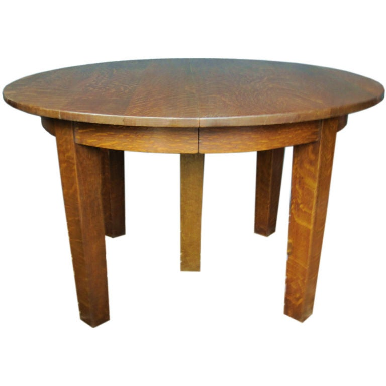 Mission Oak Round Dining Table By Gustav Stickley At 1stdibs