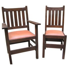 Set of six Mission  Dining Room Chairs by J.M. Young