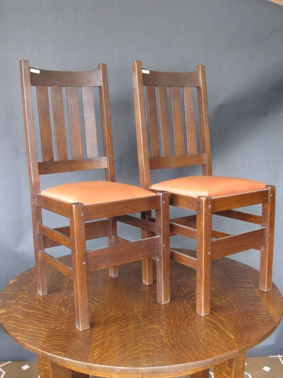 Set of six Mission Dining Room Chairs by J.M. Young For Sale at ...