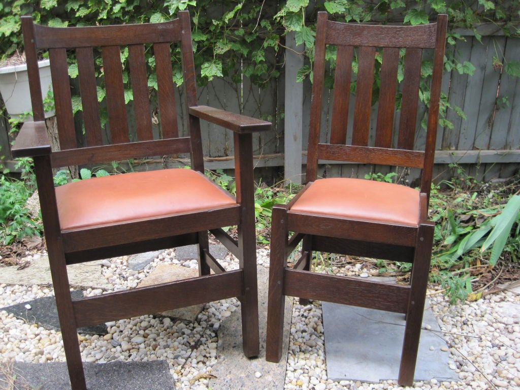 set of six mission dining room chairs by j m young for sale at
