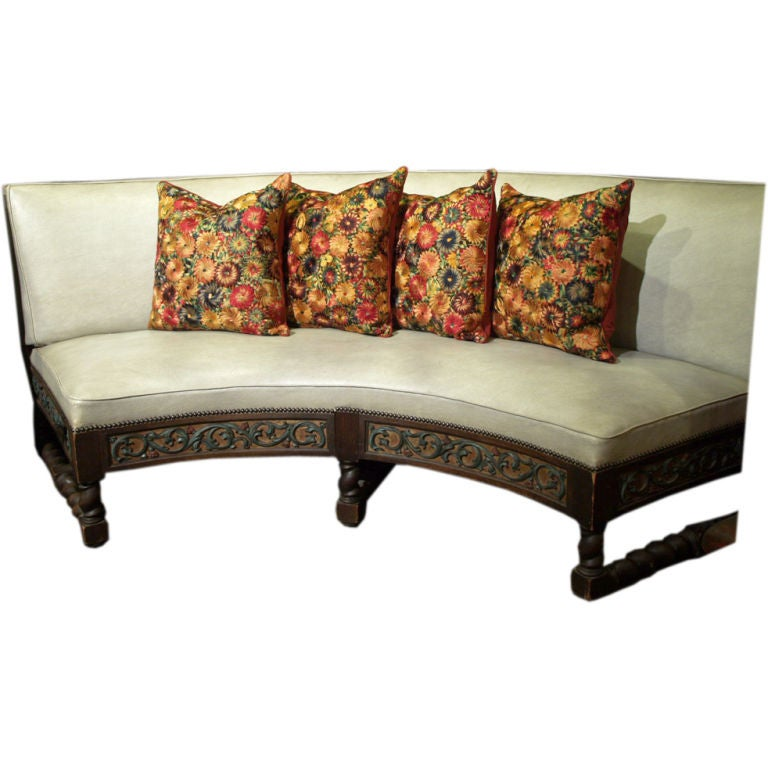 Freestanding Banquette Seating: Radius Designed Free-Standing Spanish Style Banquette At