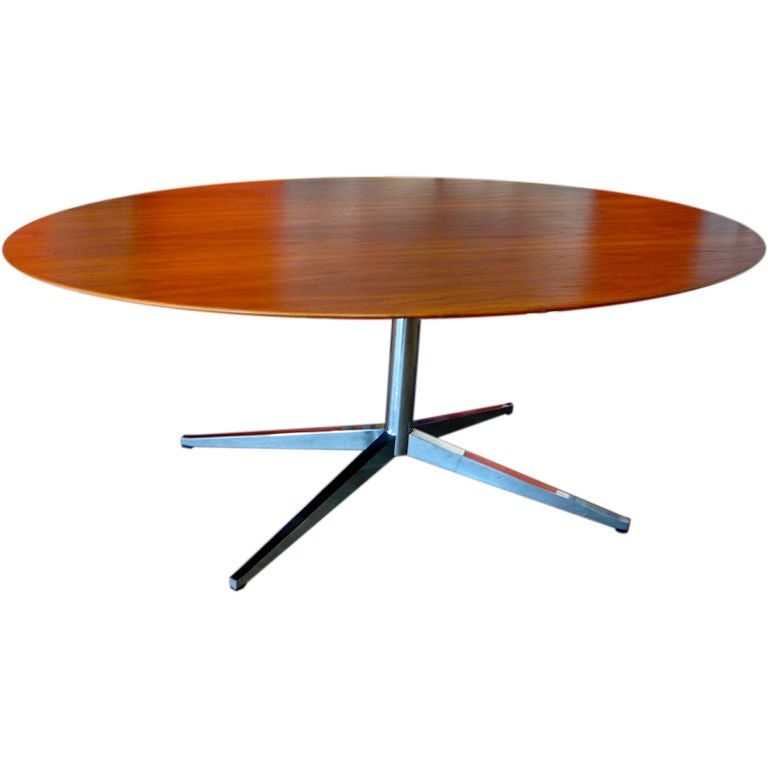 Florence knoll oval conference dining table at 1stdibs - Table knoll ovale ...