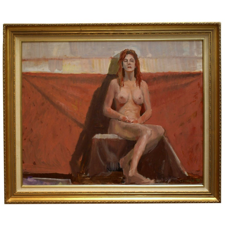Classic Oil Painting Of A Seated Female Nude For Sale At -7711