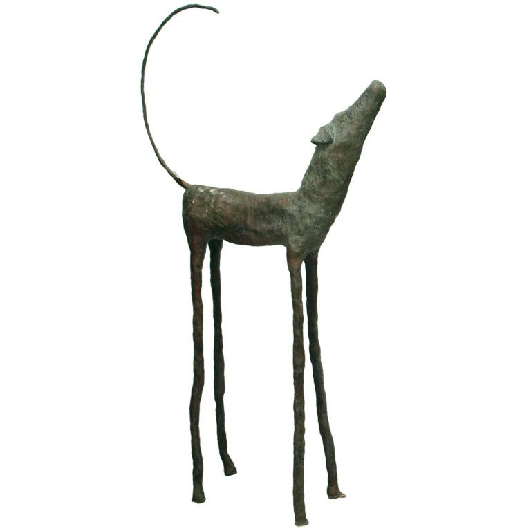 """Larger than Life"" Outdoor Bronze Sculpture of a Dog"
