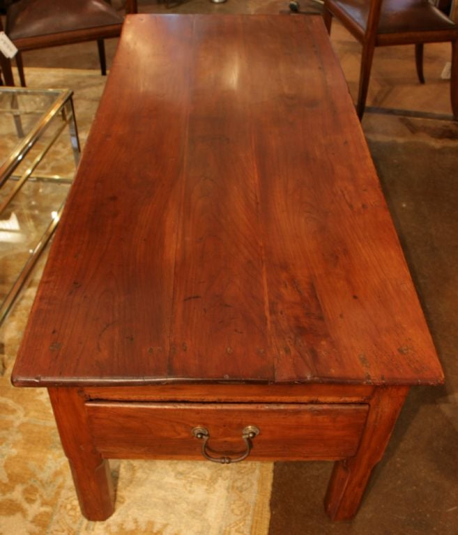 French Antique Cherry Wood Coffee Table At 1stdibs