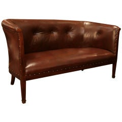 French Art Deco Solid Mahogany Settee