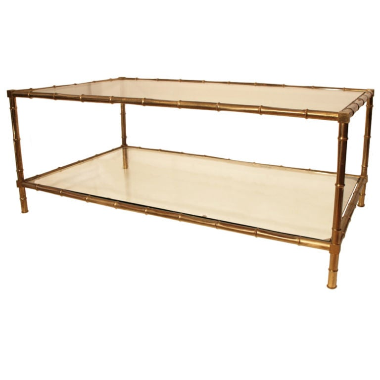 French Art Deco Period Brass Coffee Table At 1stdibs