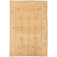 Antique Oriental Oushak Rug or Carpet, Turkey