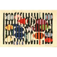 Vintage Art Deco Rug/Carpet from Israel by Yakov Agam