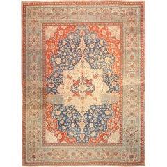 Antique Oriental Persian Mohtasham Kashan Rug or Carpet