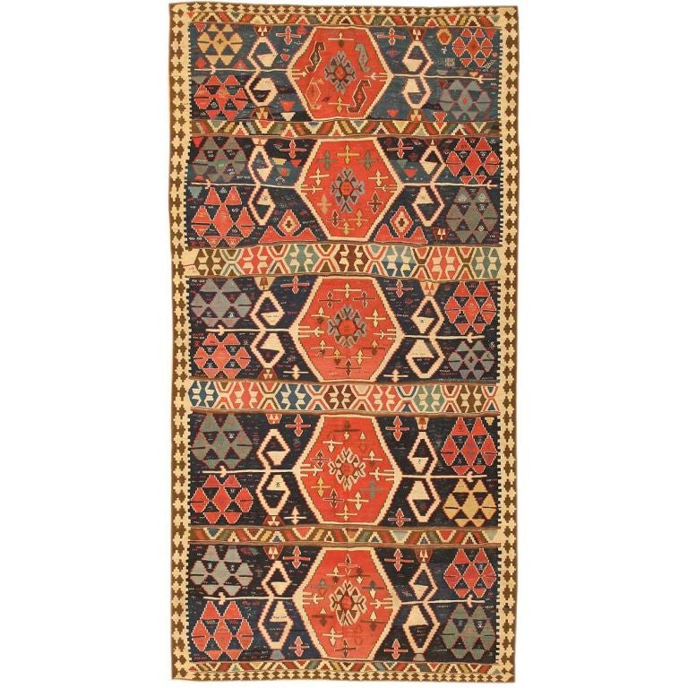 Antique Turkish Kilim Rug Or Carpet For Sale At 1stdibs