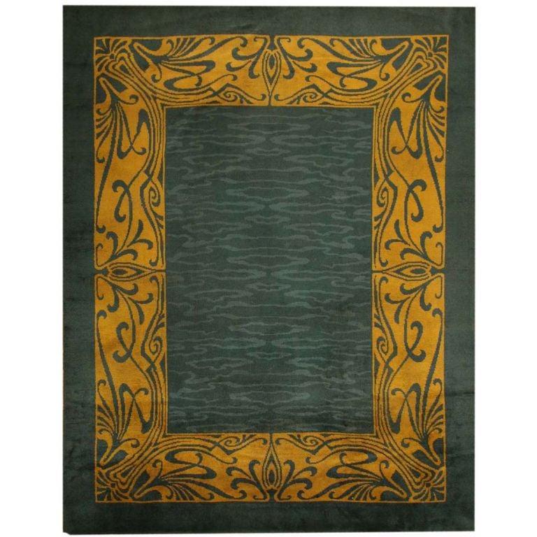 Art Nouveau Irish Donegal Rug At 1stdibs