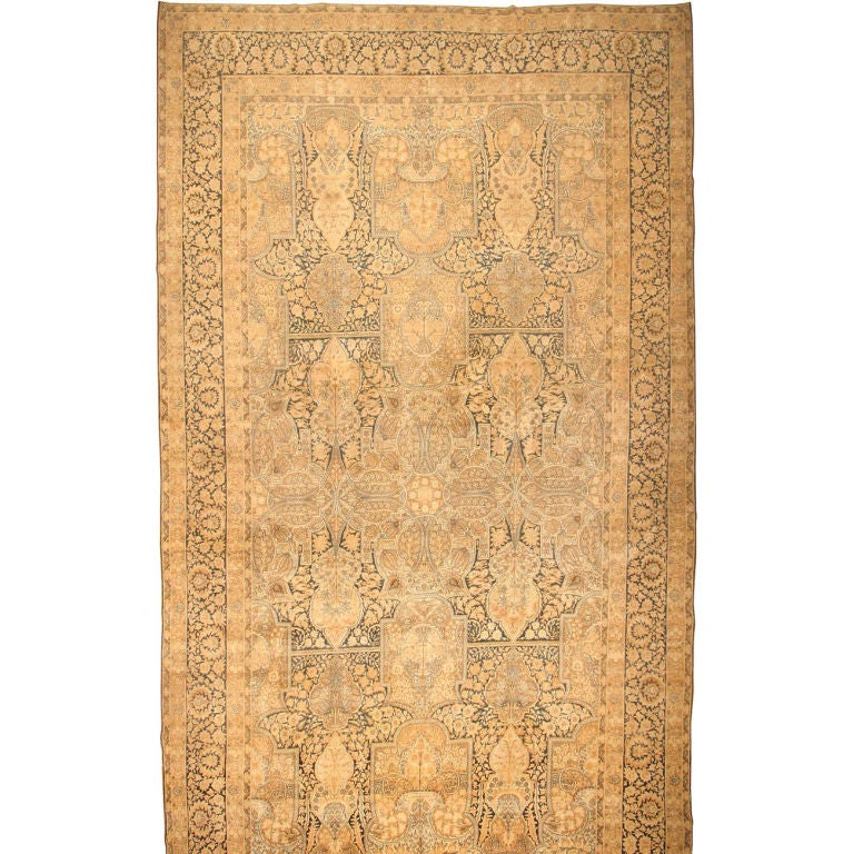 Antique Kerman Carpet For Sale
