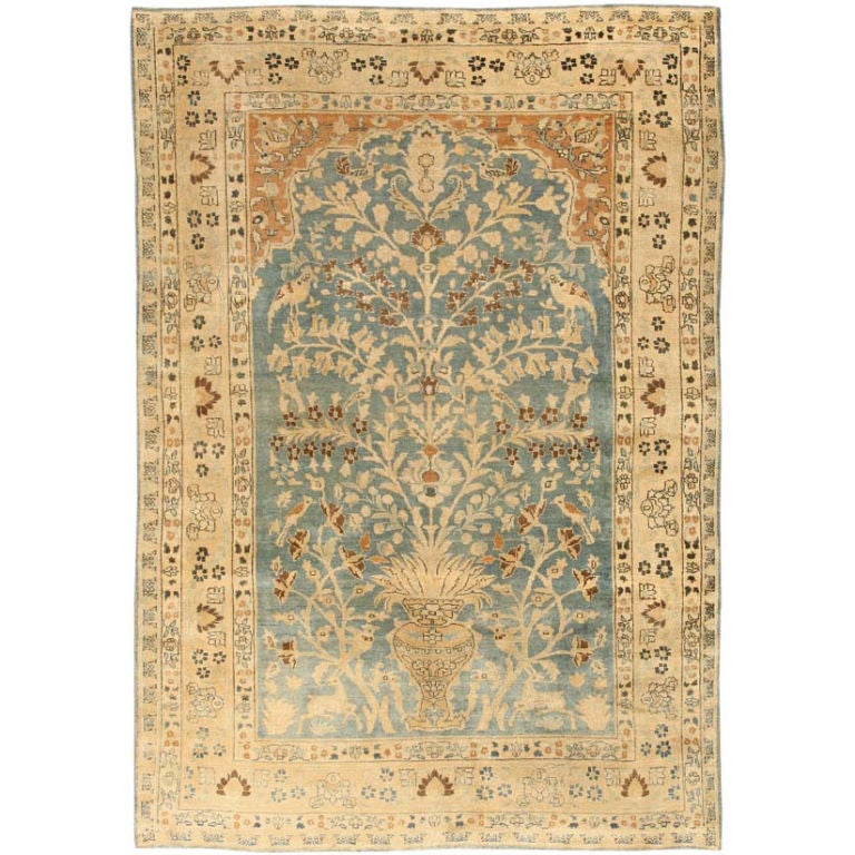 antique khorassan rug size