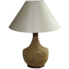 American Cork and Wood Bottle Farm Lamp