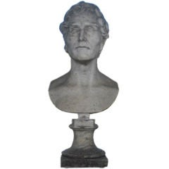 Marble Bust of Philosopher, c.19th Century, France