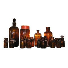 Vintage Apothecary Jars, c. 19th Century